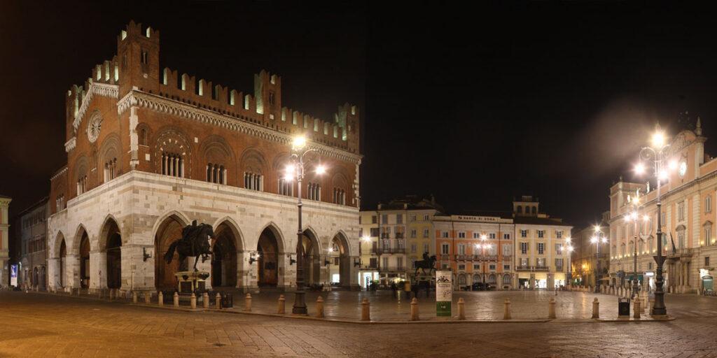 Piazza Cavalli Piacenza, Italy