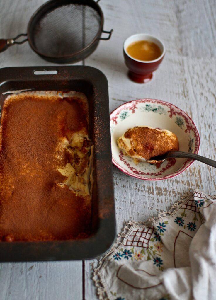 A combination of two Italian classics - panettone tiramisu!