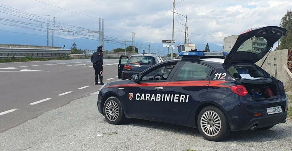 Police checking permit in red zone in Melito di Porto Salvo